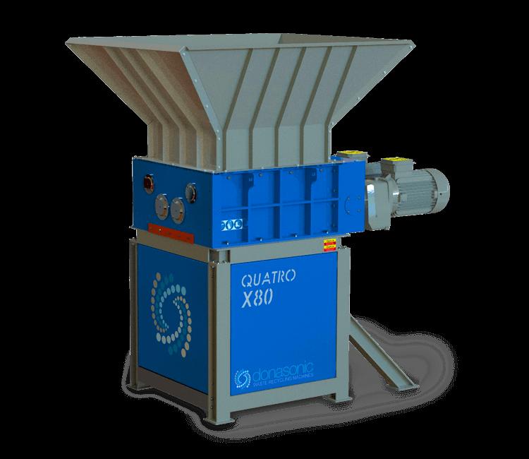 QUATRO Four Shaft Shredder / HIGH TORQUE FOUR SHAFT SHREDDING MACHINE UP TO 10 TON/HOUR