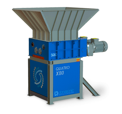 Quatro Four Shaft Shredder / Waste Materials Recycling Machine