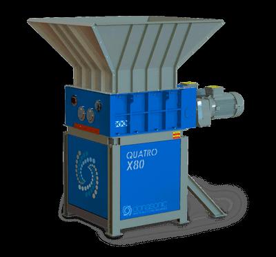 Quatro Four Shaft Shredder / Waste Materials Recycling Machine