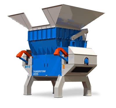 Thundertsorm Single Shaft Shredder / Waste Materials Recycling Machine