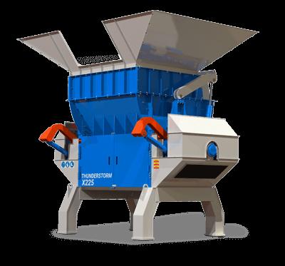 Thundertsorm Single Shaft Shredder / Waste Materials Recycling Machine