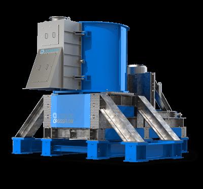 Crossflow Vertical Crusher / Waste Materials Recycling Machine